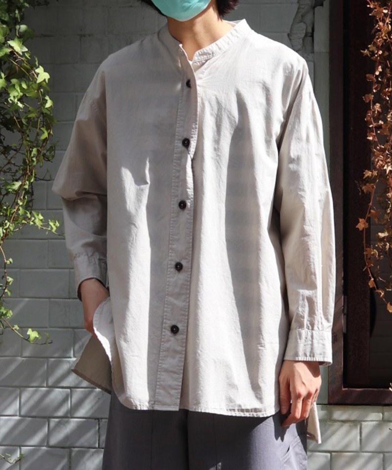 MHLW0208 COTTON RAMIE POPLIN 寬鬆休閒襯衫