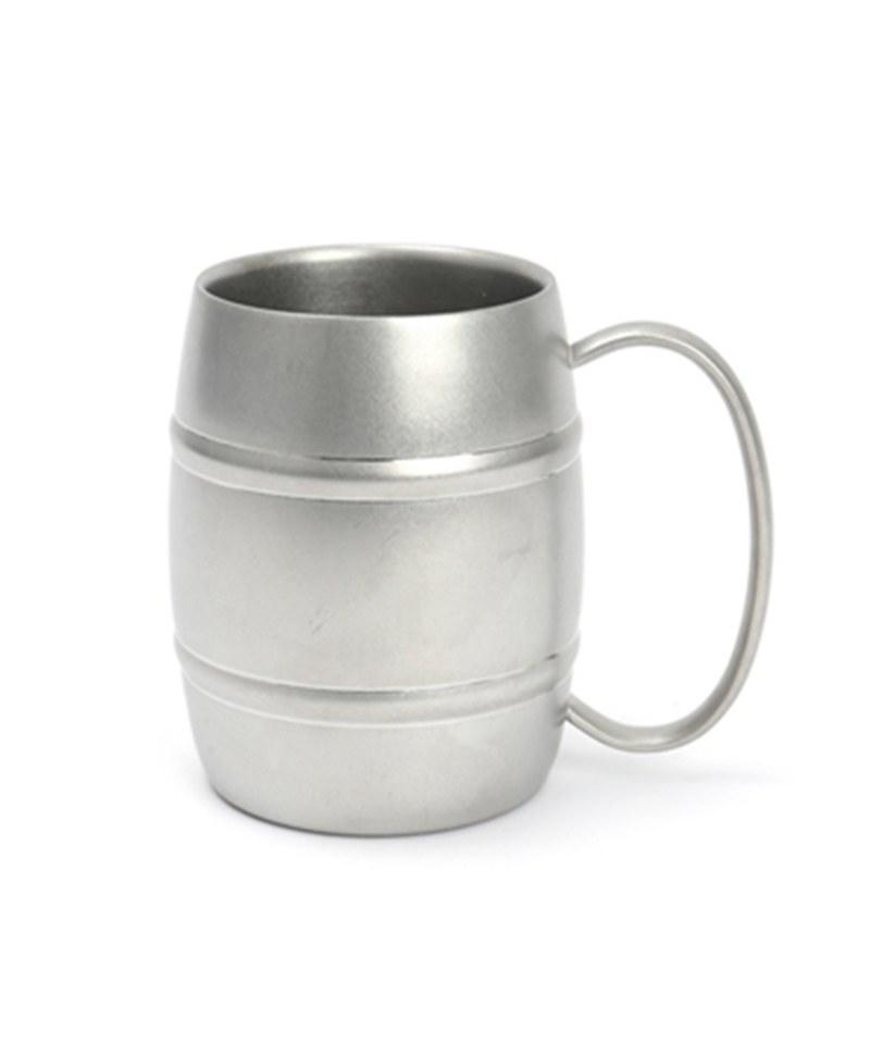 AYS9909 仿舊雙層不銹鋼啤酒杯420ml