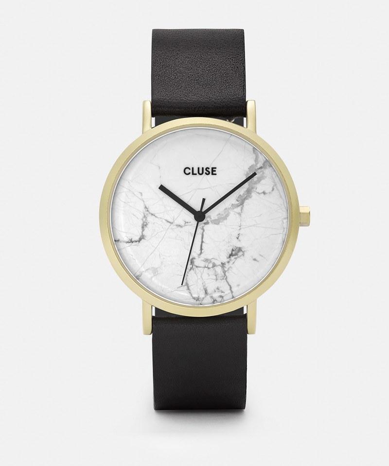 CL40003 大理石紋皮革腕錶 La Roche Gold White Marble