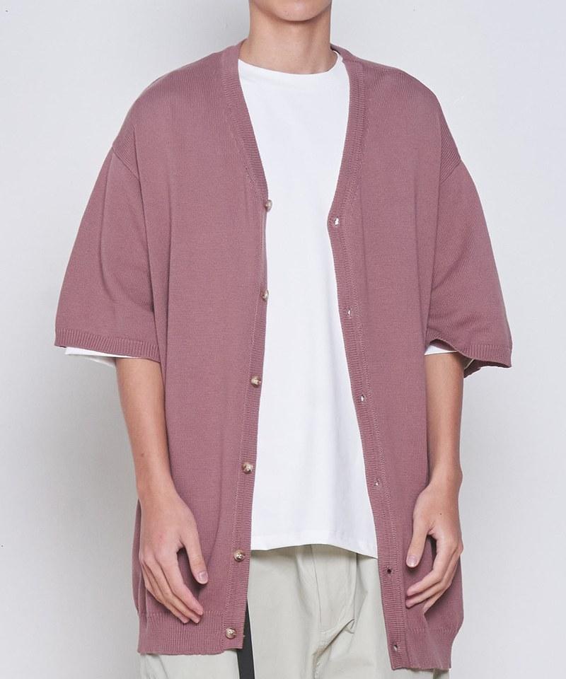 COP11103 短袖開襟針織衫