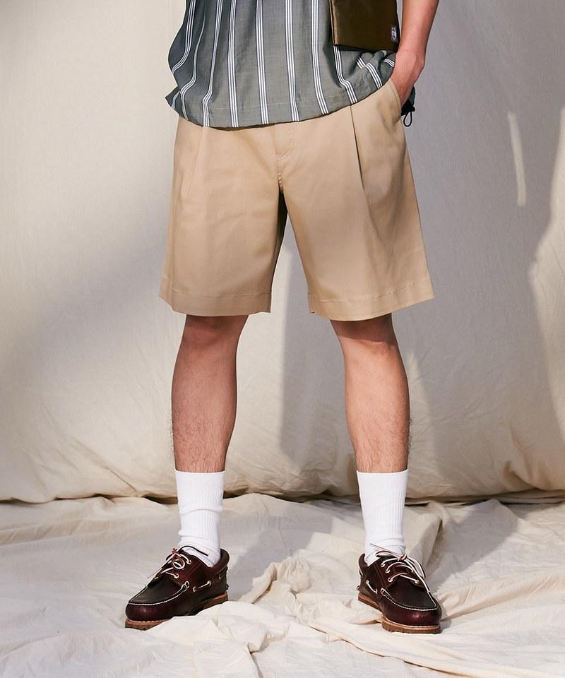 COP1729-斜紋棉質寬版短褲