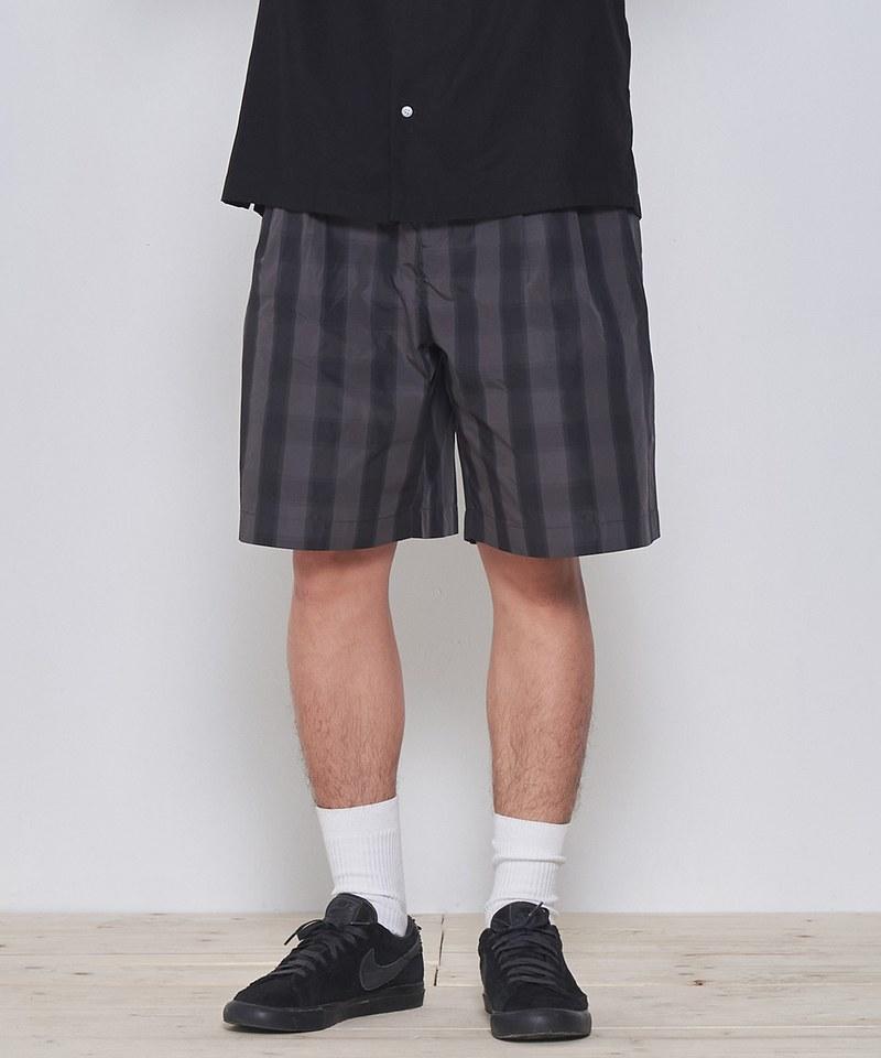 COP1738 格紋打褶短褲