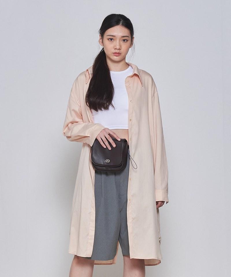 COP33158 女款天絲棉長版襯衫