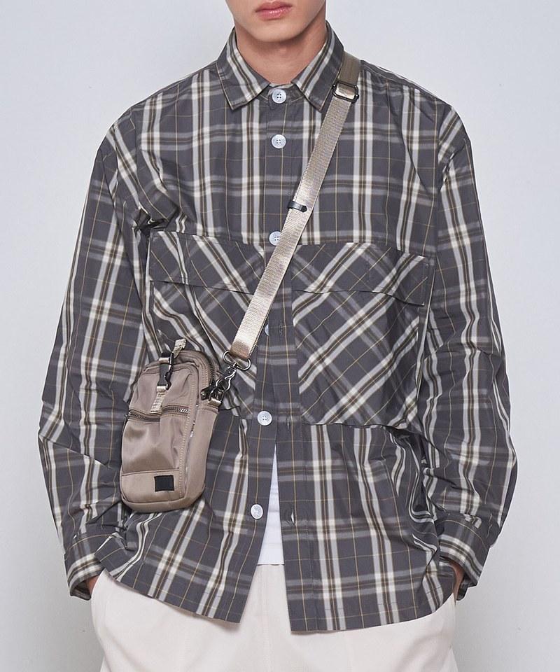 COP33162 格紋寬鬆感襯衫外套