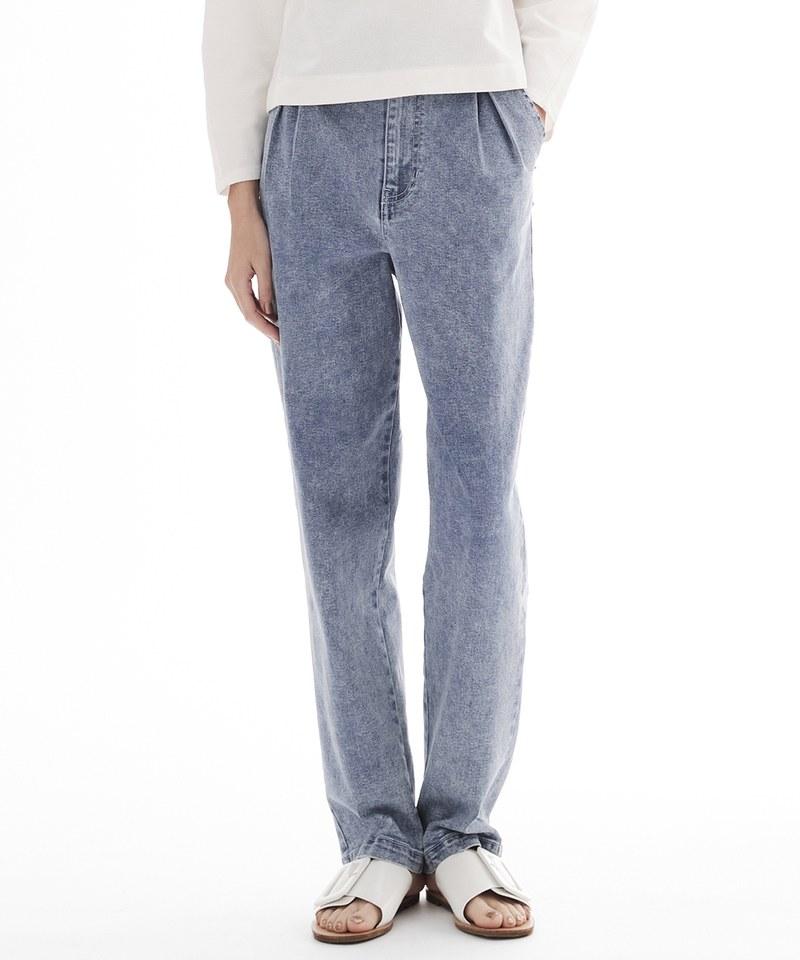 COP3581 彈性打摺牛仔褲
