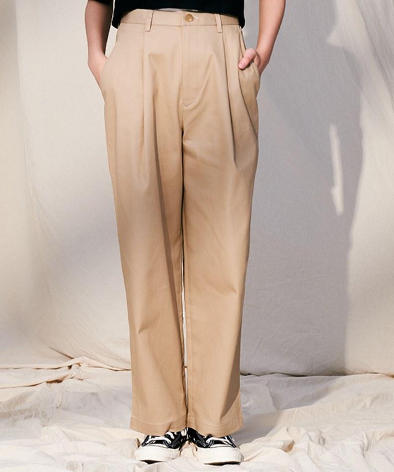 COP4062 女款彈性斜紋打褶寬褲