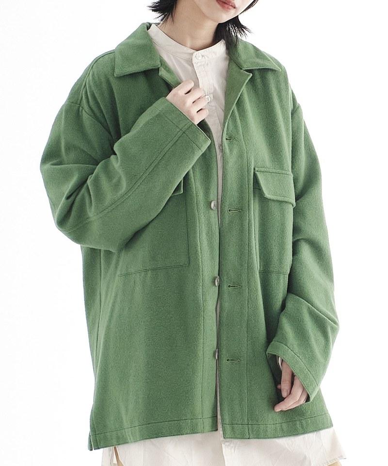 CRV1113 mouggan x plain-me 羊毛混紡CPO外套