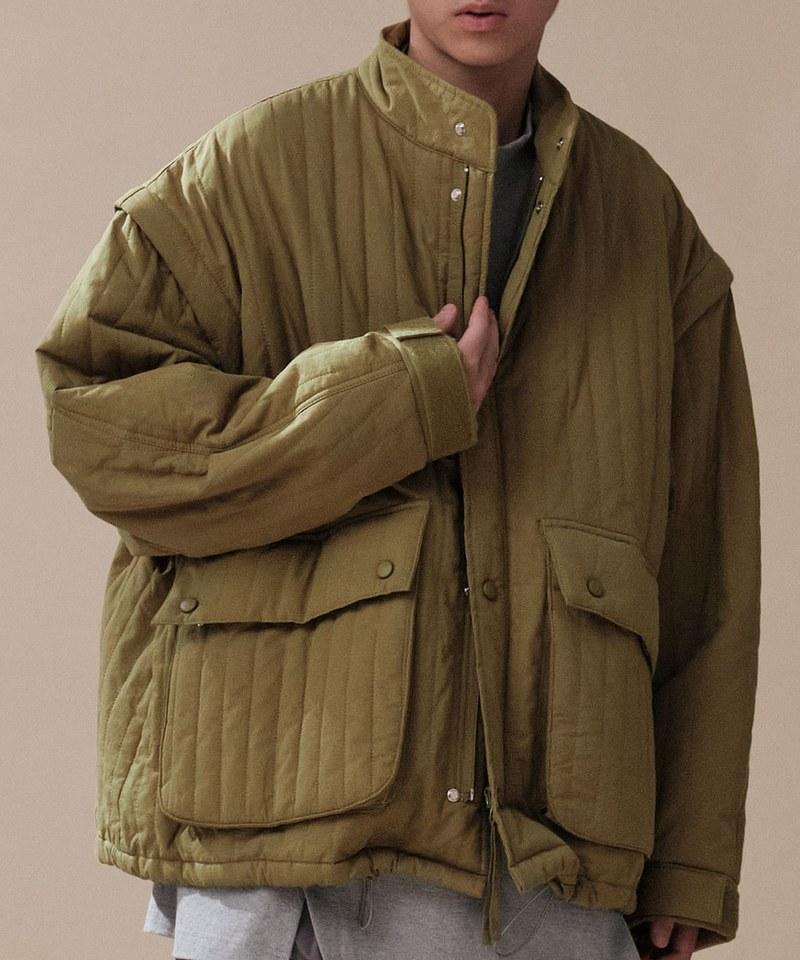 CRV1120 mouggan X plain-me可拆袖雙穿法鋪棉外套
