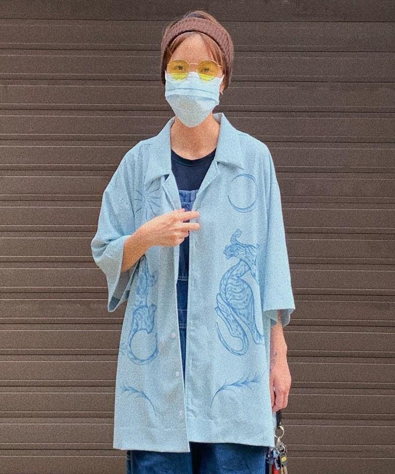 CRV3313 職人刺青風格印花襯衫