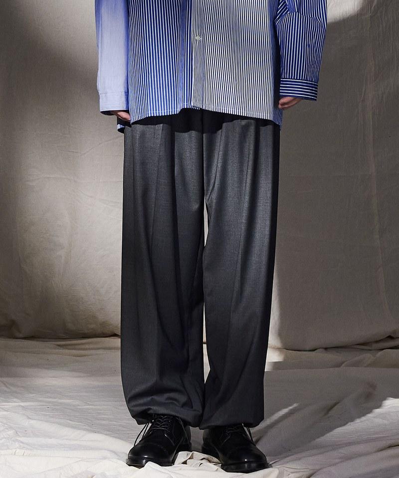 CRV4006 pierre cardin x plain-me 西料寬版束口長褲