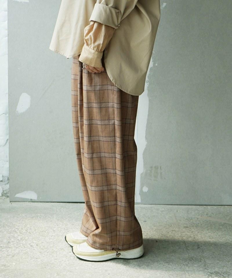 CRV4007 pierre cardin x plain-me  女款西料寬版束口長褲