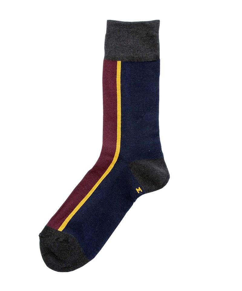 CENTER LINE SOCKS 日本製配色長襪
