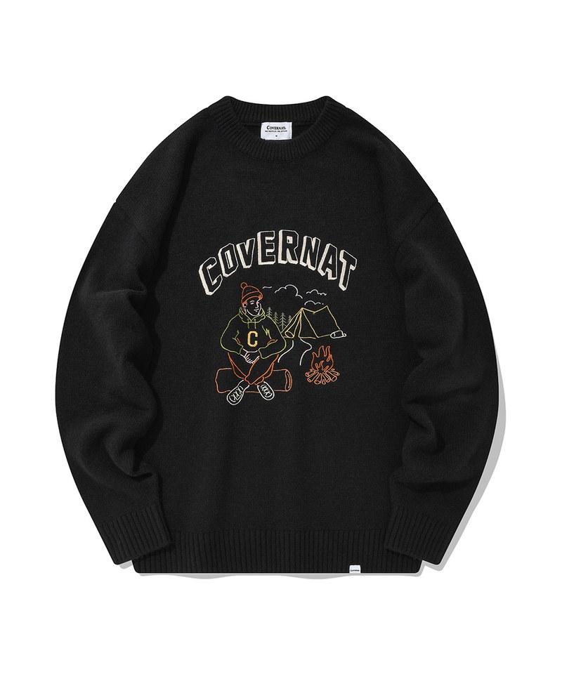 CVN0224 圓領鬆身毛衣 season graffic knit crewneck