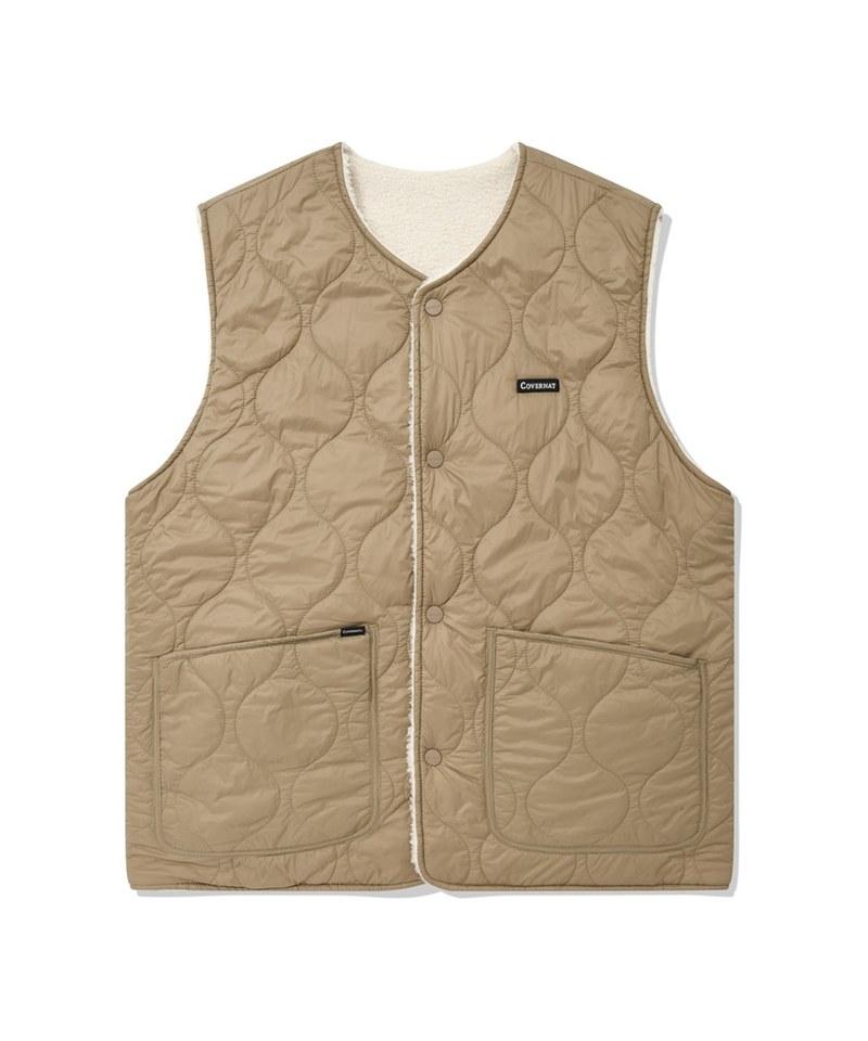 雙面穿背心 reversible boa vest
