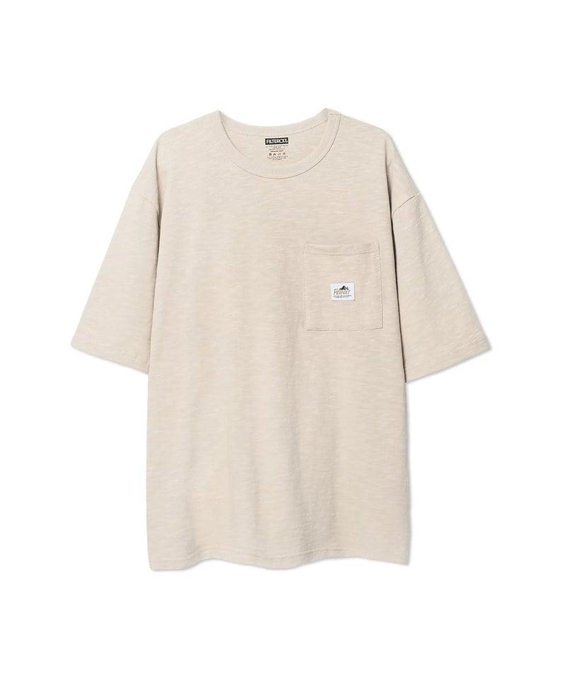 獾標誌竹節棉口袋短TEE