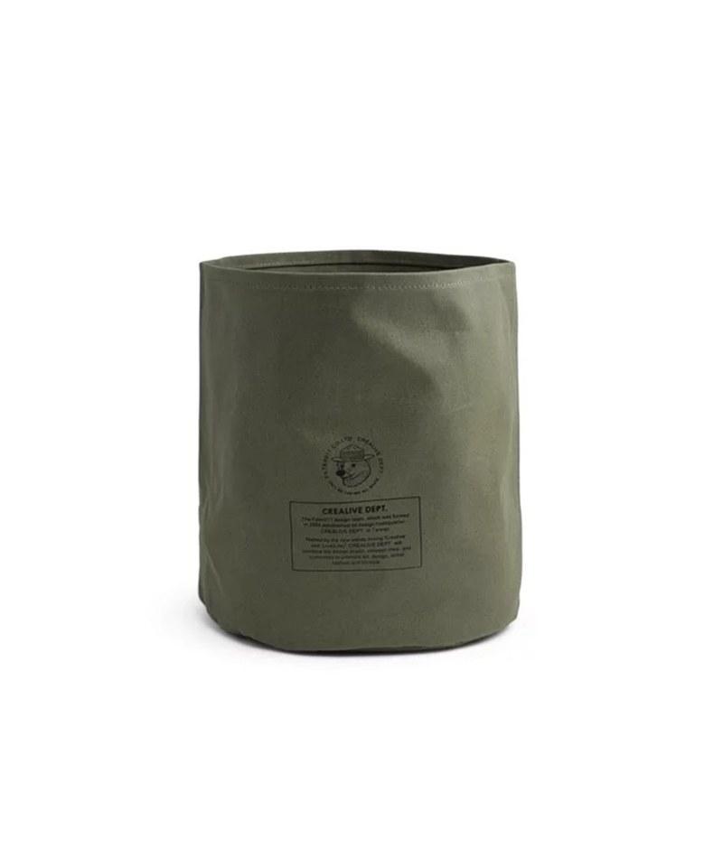 FLT3911 Mix Badger Waxed Canvas Storage Bin 米斯獾上蠟帆布置物袋 (中)