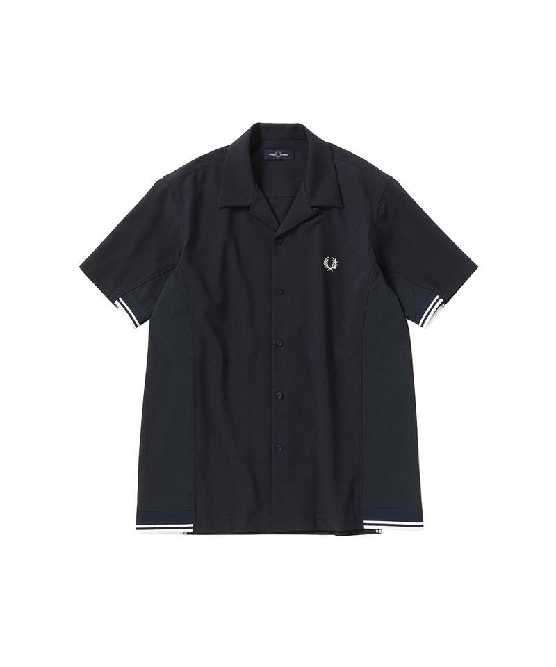 F4577 MIX PANELLED SHIRT 拼接設計襯衫