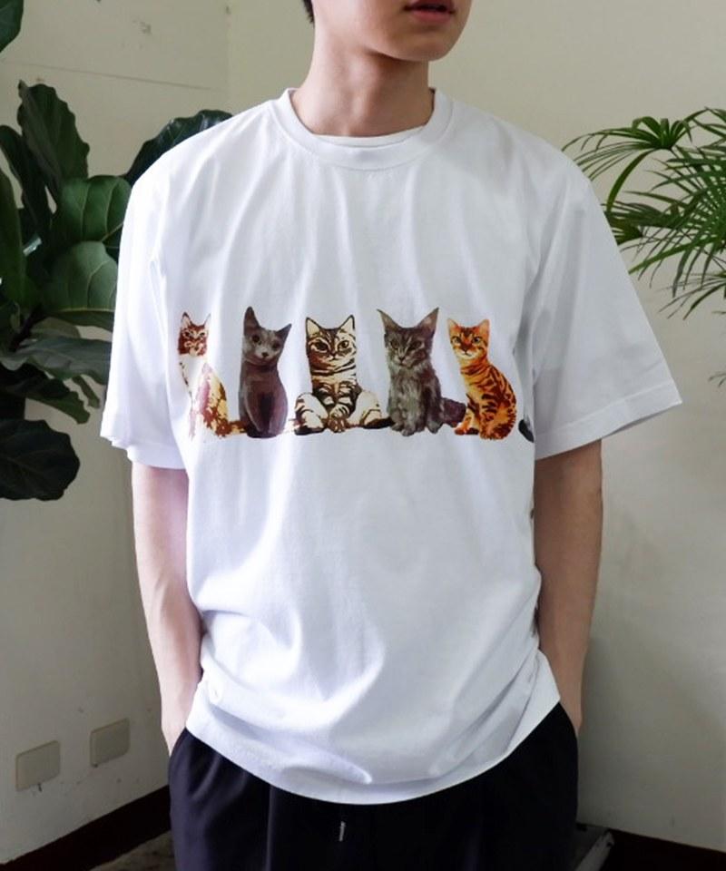 HOU0111 21947 PRINT TEE (CAT) 純棉圖案短T