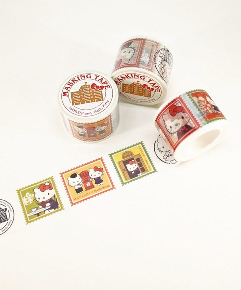 HYS9905 古蹟樂遊郵票式紙膠帶-林百貨xHello Kitty
