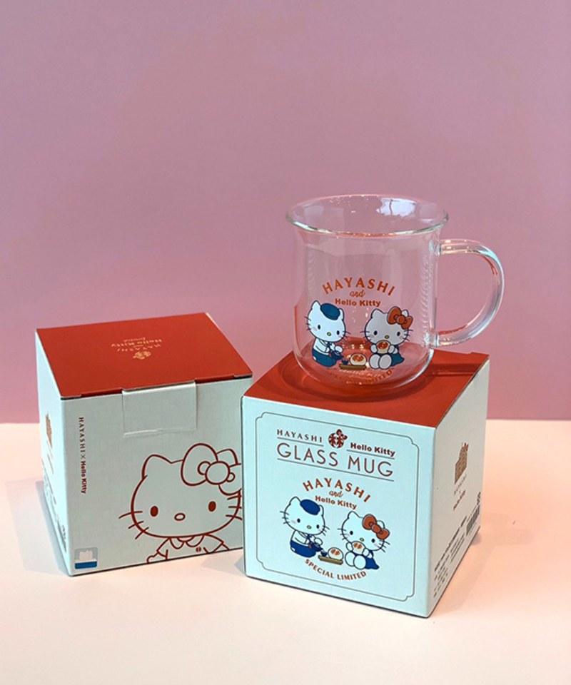 HYS9906 椪餅時光夏日涼藝玻璃杯-林百貨xHello Kitty