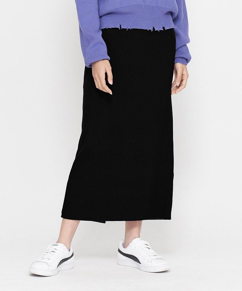 JSD4008 羅紋合身休閒長裙