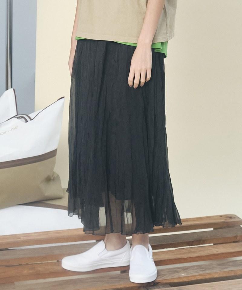 JSD4010 打褶休閒長裙