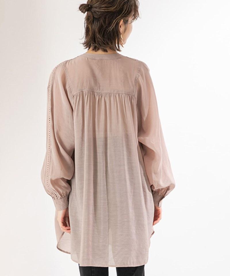 KBF0016 蓬鬆感透膚罩衫