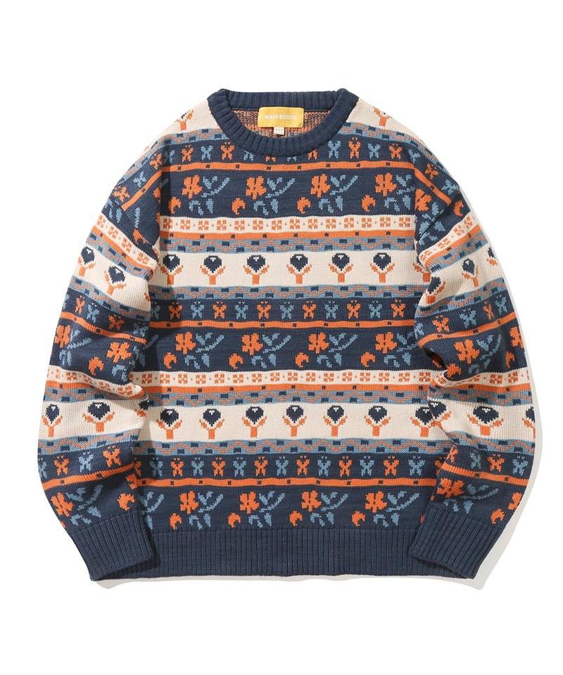 MBT0315 圖案針織毛衣 Blooming Fair Isle Sweater