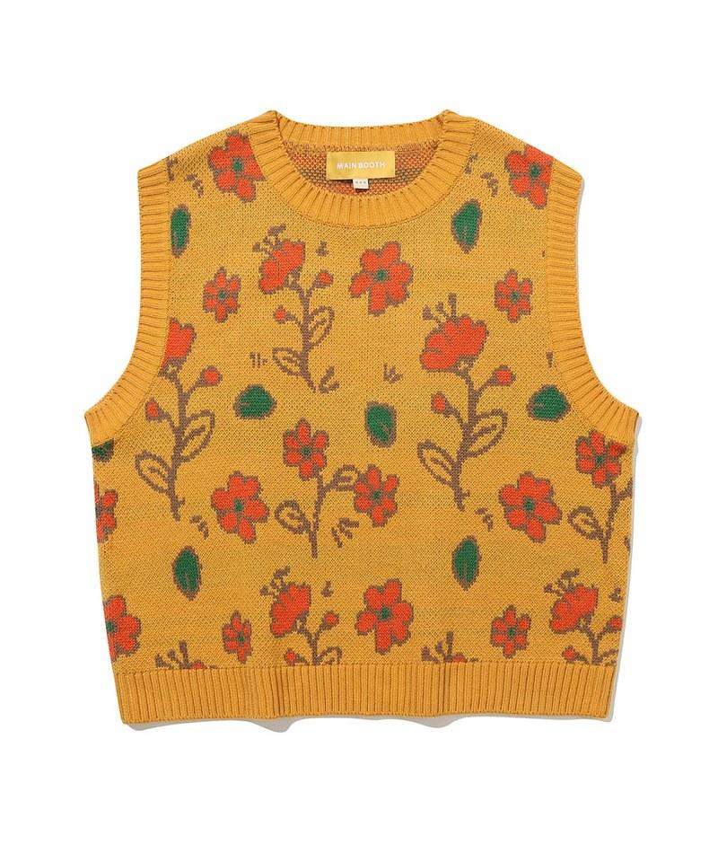 MBT0505 圖案針織背心 Flower Garden Vest