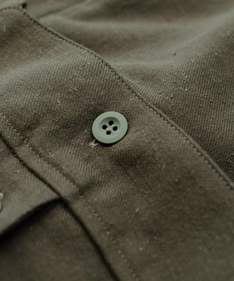 MCM9979 古著風軍事掛帶襯衫