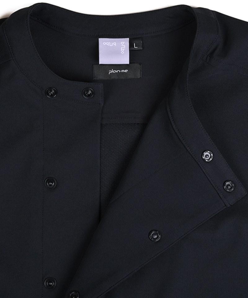OQQ0211 oqLiq x plain-me hill side shirt 圓領右衽襯衫