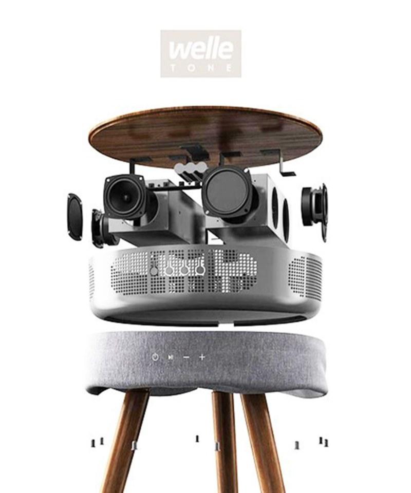 PLMS9903 360度藍牙木桌音響 WELLE W501T Wireless Bluetooth Speaker TableWELLE W501T