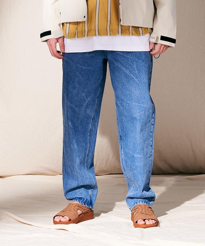 PLN3503 復古水洗錐形牛仔褲