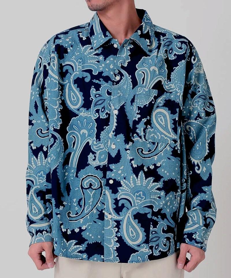 RLMM0202 藍染寬版襯衫