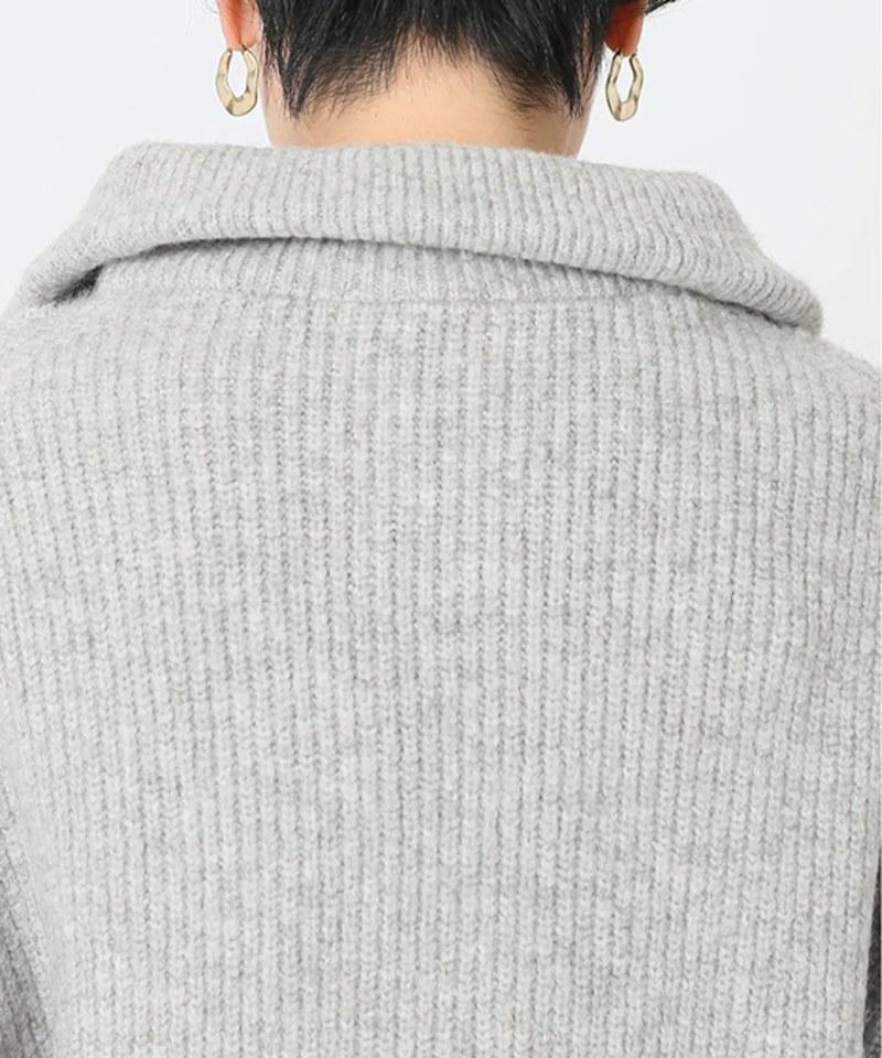RLMW0009 混駱駝毛HALF ZIP毛衣