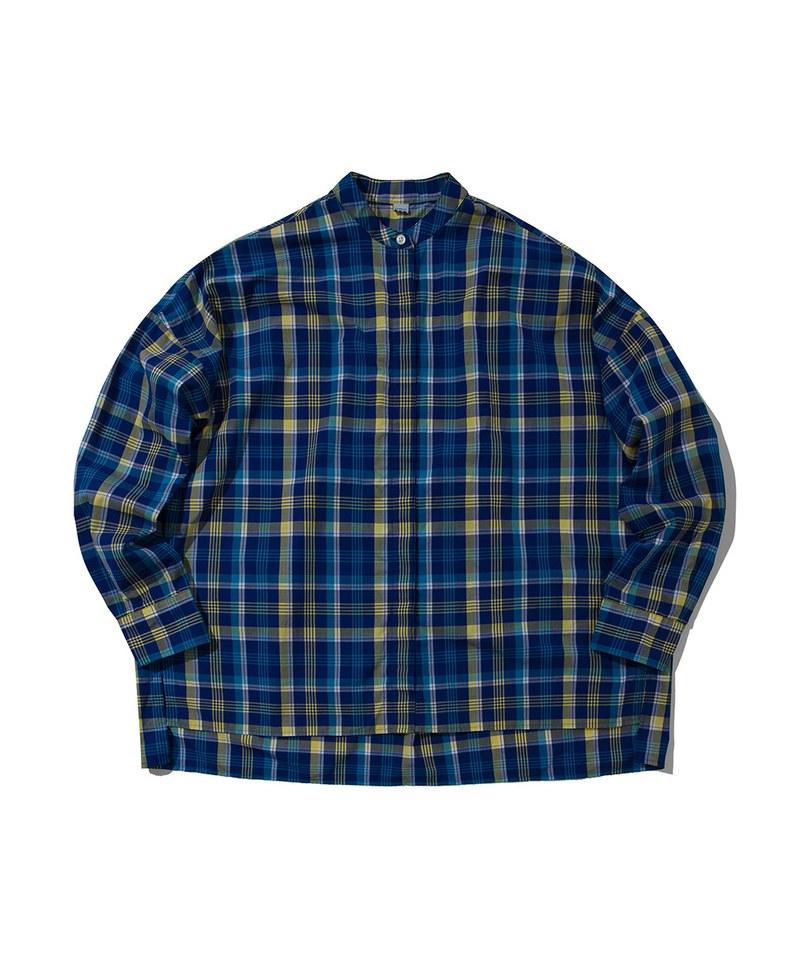 SOTW0202 棉質立領長袖襯衫 COLLARLESS SHIRT