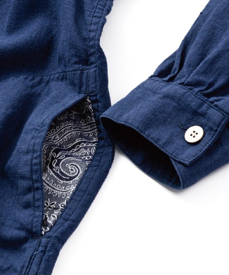 SYN0703 HEART OF FREEDOM SMOCK 人字紋寬鬆套頭罩衫