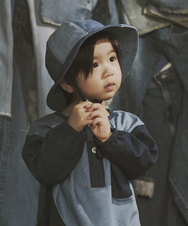 SYNDRO x plain-me FUNNY SUNNY DAY DENIM BUCKET HAT 漁夫帽 (兒童款)
