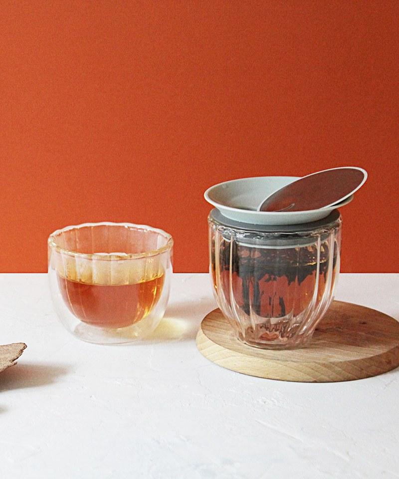 LOTUS / 雙層玻璃蓋杯組