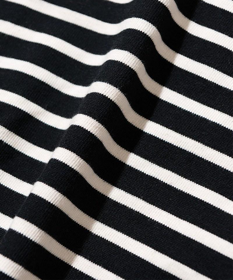UNB0021 Stripe Relex Crew Neck L/S Tee 橫條紋長TEE