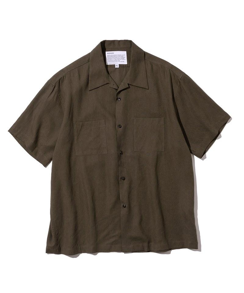 雙口袋亞麻短袖襯衫 two pocket linen short shirts