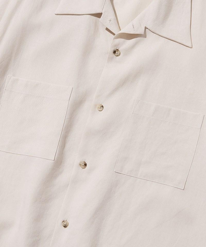 UNB0214 雙口袋亞麻短袖襯衫 two pocket linen short shirts