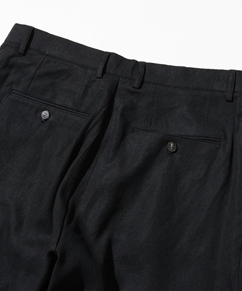 UNB1614 打褶亞麻混紡長褲 two tuck linen pants