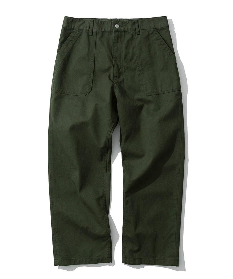 棉質寬版軍褲 cotton fatigue pants wide