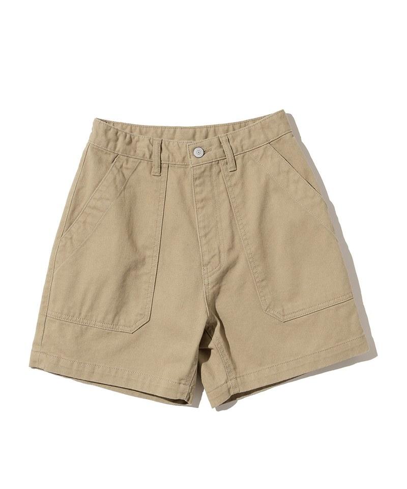 女款棉質軍風短褲 cotton fatigue shorts