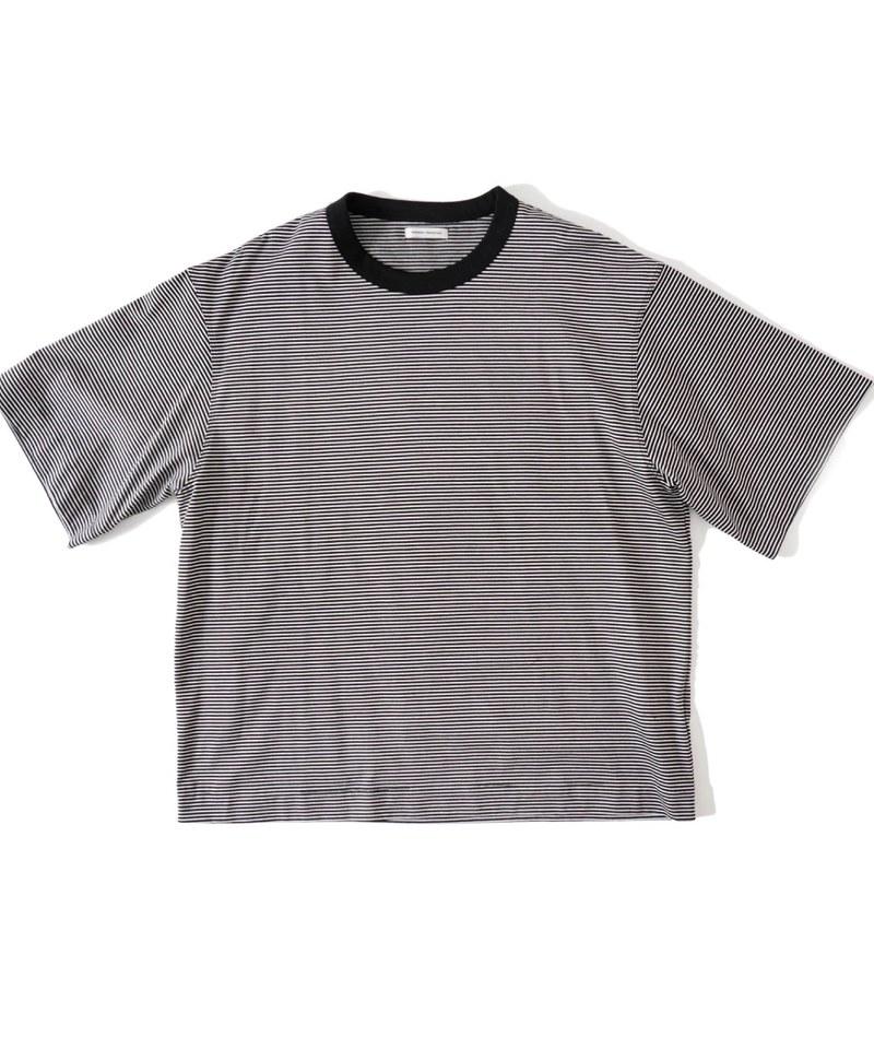 UNP0027 BORDER S/S T-SHIRT 條紋撞色上衣(附近)