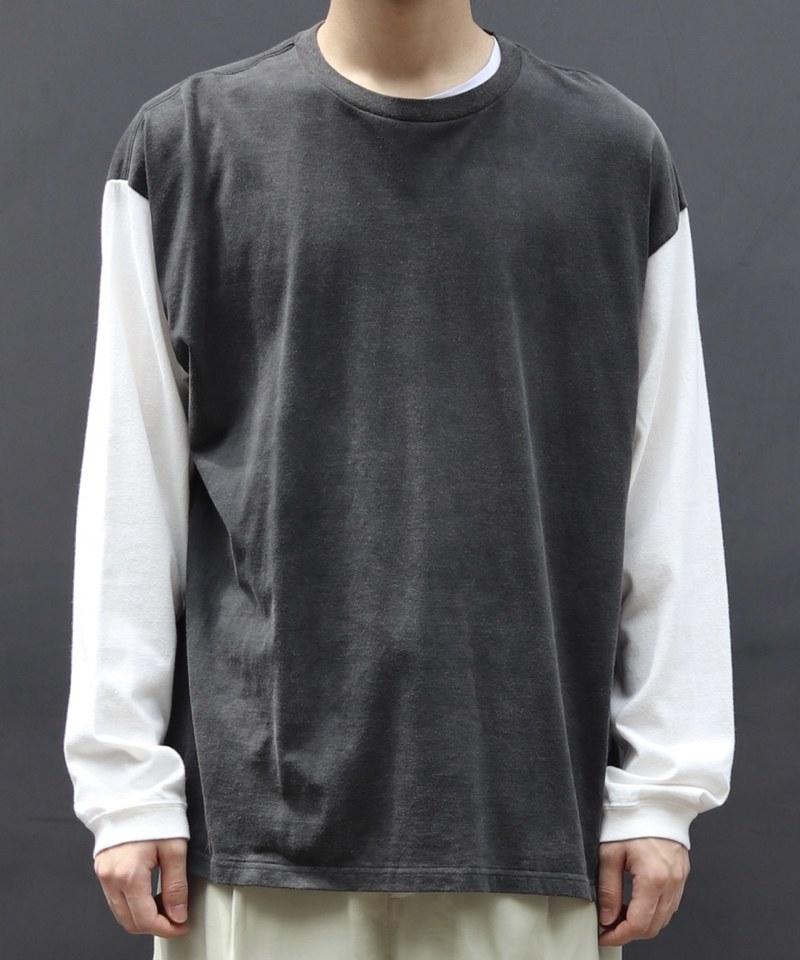 UUD0002 US1957 Long Sleeve T-Shirt 拼接撞色長袖上衣