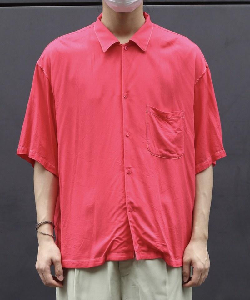 UUD0204 US2013 Rayon Open Collar S/S Shirt 寬鬆落肩襯衫