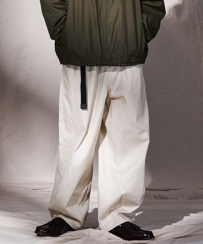 斜紋棉質繭形寬褲
