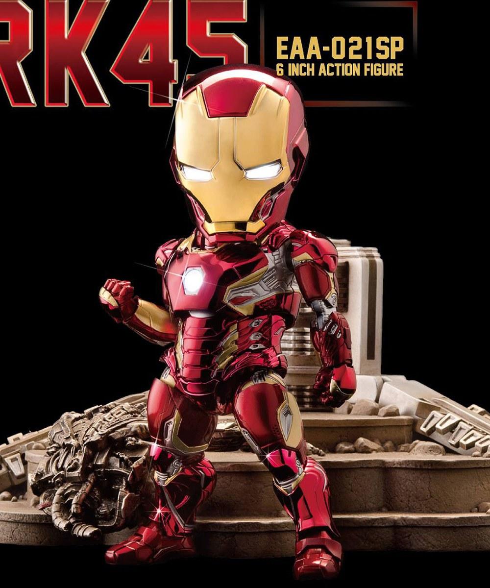 BKD3912 【野獸國】EAA-021SP 復仇者聯盟:奧創紀元 鋼鐵人馬克45加奧創哨兵電鍍版